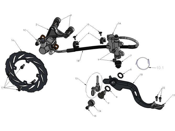 2014 cobra cx65 rear brakes